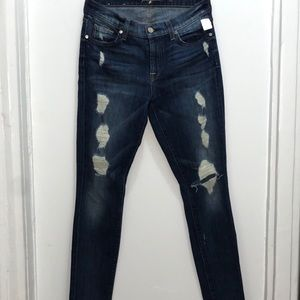 7MANKIND Ankle skinny distressed jeans